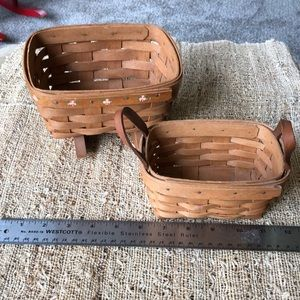 Longaberger basket lot from 1990, rocker leather
